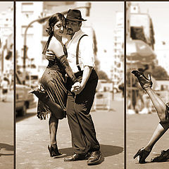 "photo ""Thumbing through pages of street or Tango."""