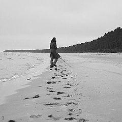 """фото """"petite marche sur la plage"""""""
