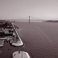 "photo """" The Bridge at the Tagus river """""