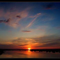 """фото """"Небо, птички, и закат, к тому же...."""""""