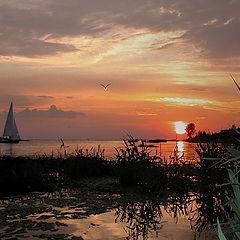 "photo ""Yacht in a sea decline"""
