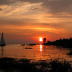 "photo ""Yacht in a sea decline - 2"""
