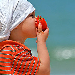 """фото """"Simply..... MY SON With a TOMATO"""""""