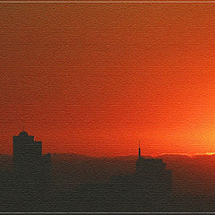 "photo ""Sunset Towers."""