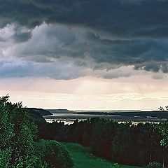 "photo ""before the thunderstorm at Volga"""