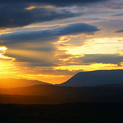 "фото ""Sunset over muckish mountain"""