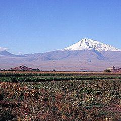 "photo ""Ararat in beams of the morning sun!"""