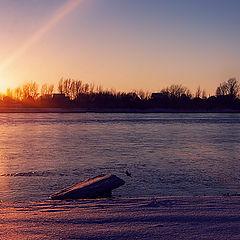 "photo ""Winter, evening, Irtysh..."""