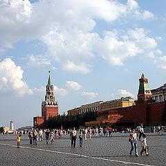 """фото """"Красная жара. Москва. Красная площадь."""""""
