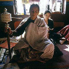 """фото """"Believer.Tibetan Village in Nepal."""""""