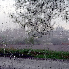 "photo ""Behind a window - a downpour!.."""