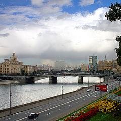"""фото """"Москва. Вид с Ростовской набережной Москвы-реки."""""""