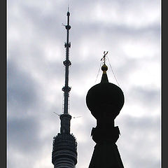 "photo ""Two towers. Two religions."""
