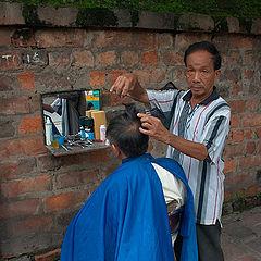 "photo ""Street barber"""