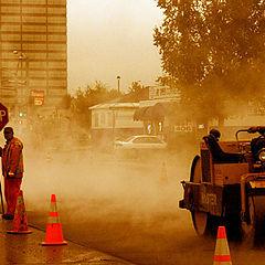 "photo ""work in the rain"""