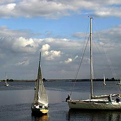 """photo """"Rest after a regatta"""""""