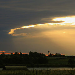 "photo ""Dawn above Volga."""