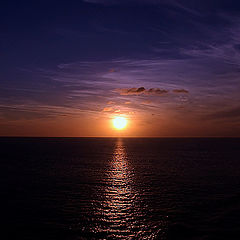 """photo """"Sunset in Pacific Ocean"""""""