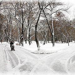 """фото """"Москва. Первый снег."""""""