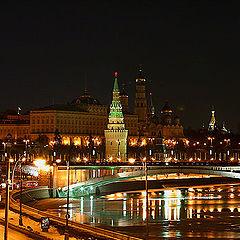 """фото """"Москва. Кремль. """"Этюд с полной луной"""":)"""""""