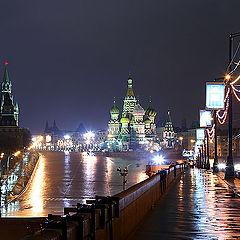 """фото """"Москва. Ночь. Васильевский спуск."""""""