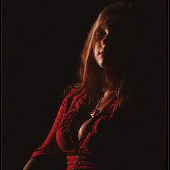 """фото """"Портрет девушки в красном."""""""