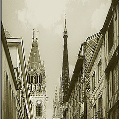 """photo """"The Cathedral of Rouen"""""""