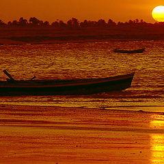 """фото """"Sunset in Barra Grande beach"""""""