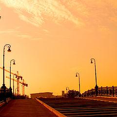 """фото """"Пешеходный мост через Водоотводный канал. Москва."""""""