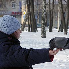 """фото """"Девочка и голубь"""""""