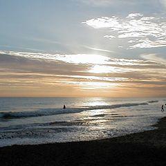 """photo """"Atardecer en la playa"""""""