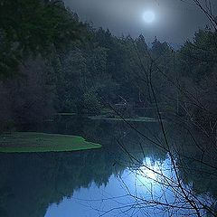 "photo ""Misty night at river"""