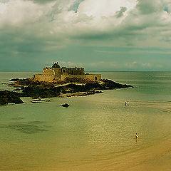 """фото """"Пляж в Сен-Мало"""""""
