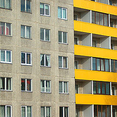 "photo ""Yellow strips + grey squares"""