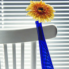 "photo ""Unstable still-life with an artificial flower"""