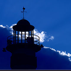 """photo """"Lighthouse in blue"""""""