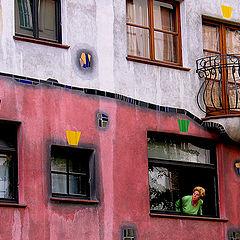 "photo ""The house. A window. Lady))"""
