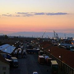 "фото ""evening at the port"""