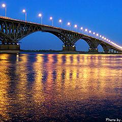 "photo ""The bridge through Volga"""