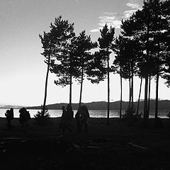 "фото ""Байкал. Закат и туристы"""