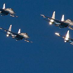 "photo ""Russian Knights aerobatic team"""