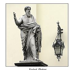 """photo """"Saint Peter's statue near Stt.Peter&Paul's church"""""""