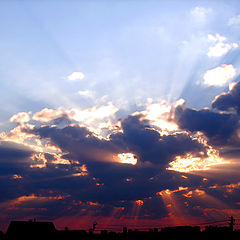 "photo ""Sunset in Belarus"""
