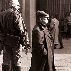 """photo """"The passer-by and the photographer. 1992."""""""