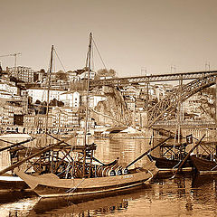 "photo ""Old postcard from Oporto"""