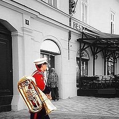 """photo """"The military musician"""""""
