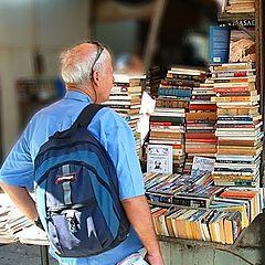 """photo """"Second-hand books etude in pessimistic tones..."""""""