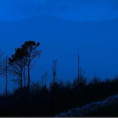 "фото ""Last light in the mountain"""