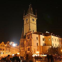 """фото """"Прага. Староместская площадь с Ратушной башней."""""""