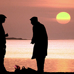 "photo ""Fishers talking"""